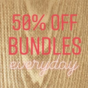 50% off bundles of 2 or more